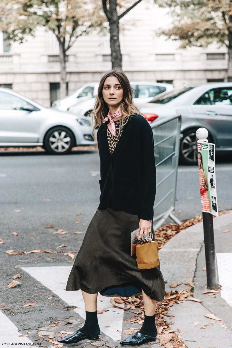 Paris Fashion Week Street Style 6 Collage Vintage
