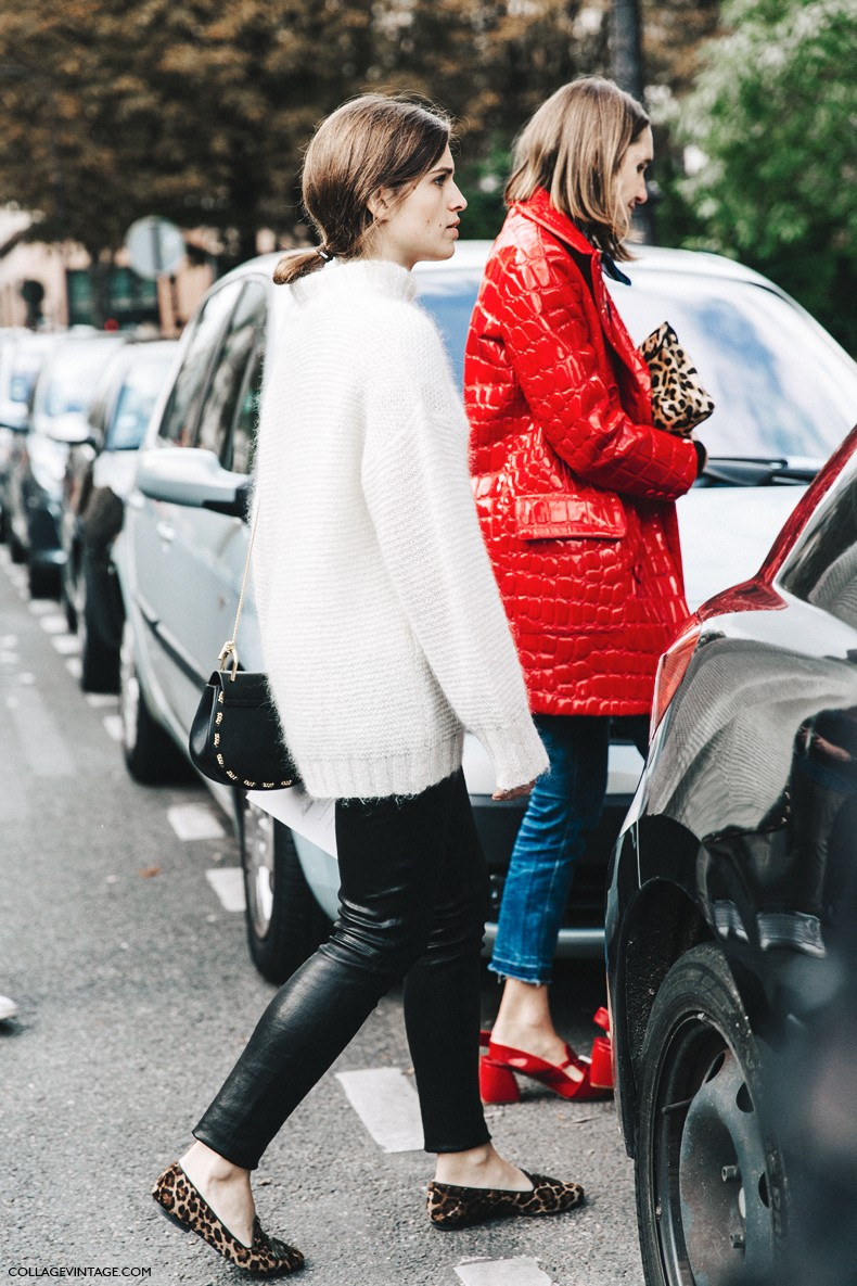 PFW-Paris_Fashion_Week-Spring_Summer_2016-Street_Style-Say_Cheese-Valentino_Spring_Summer_2016-Miu_Miu-Red_Coat-Leopard-
