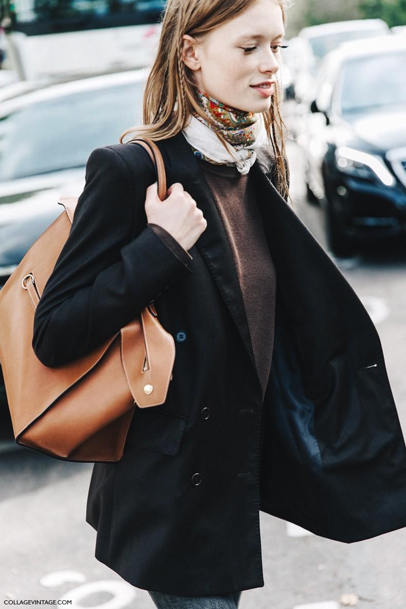 PFW-Paris_Fashion_Week-Spring_Summer_2016-Street_Style-Say_Cheese-Valentino_Spring_Summer_2016-Model-Blazer-Russian_Scarf-