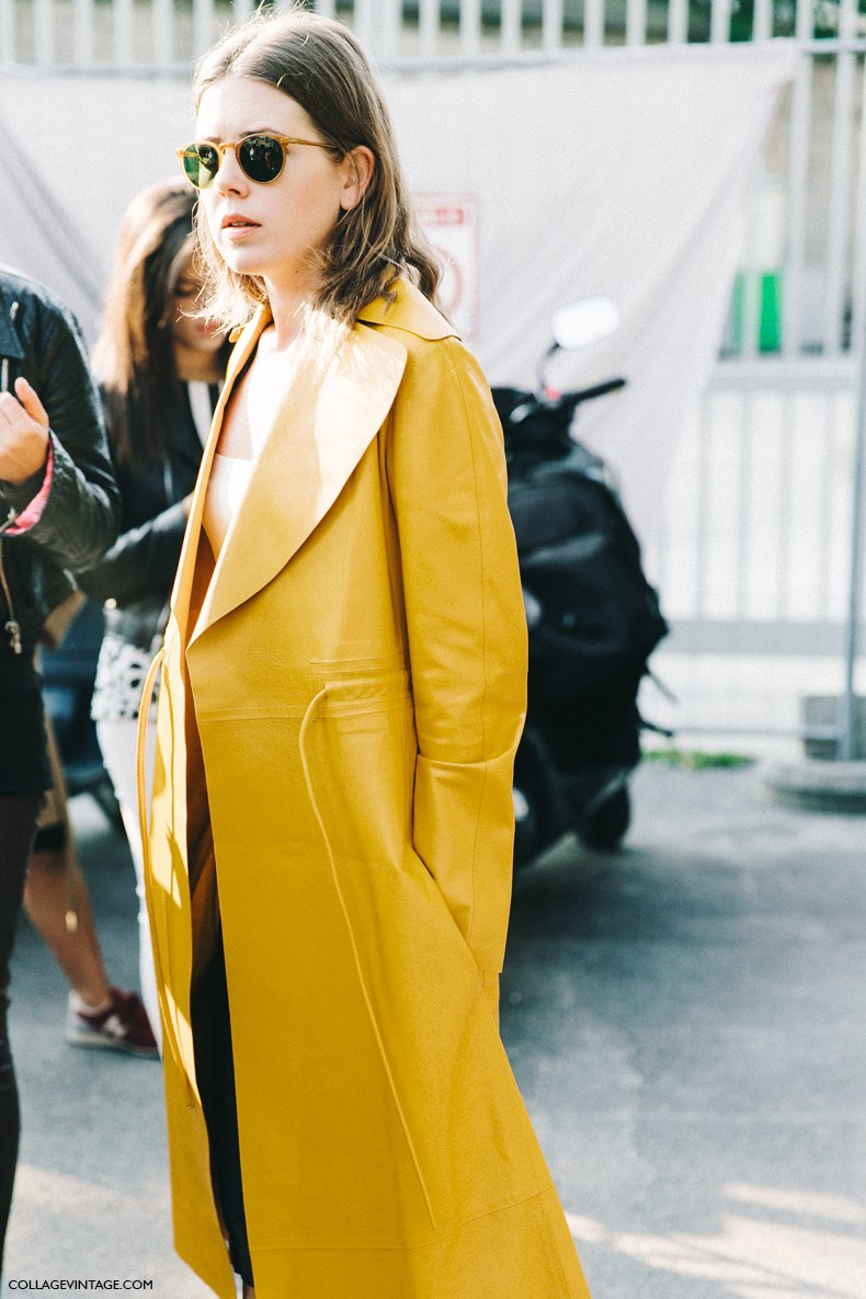 PFW-Paris_Fashion_Week-Spring_Summer_2016-Street_Style-Say_Cheese-Yellow_Coat-