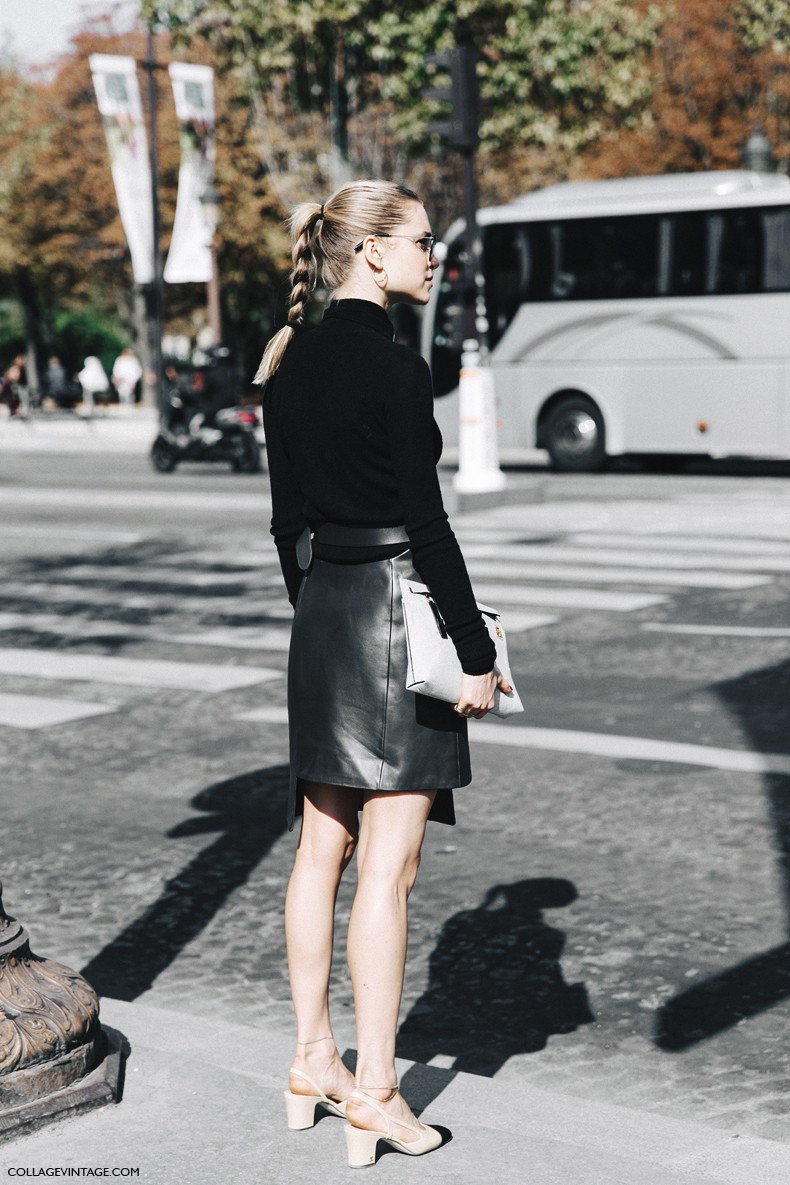 Paris Fashion Week Street Style 1 Collage Vintage