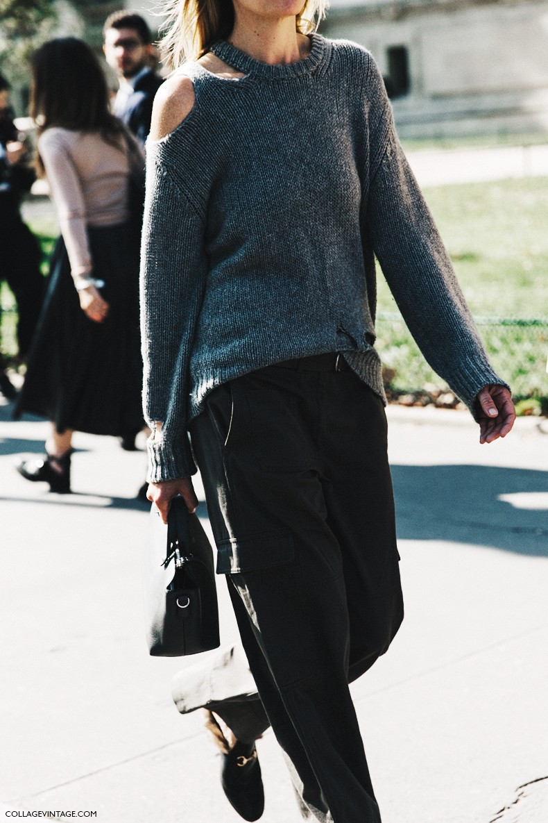 PFW-Paris_Fashion_Week-Spring_Summer_2016-Street_Style-Say_Cheese-open_Sweater-Gucci_Loafers-