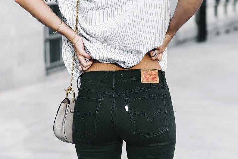 Serie_700_Levis-Ladies_In_Levis-Khaki_Jeans-Striped_Shirt-Espadrilles-Chloe_Bag-30