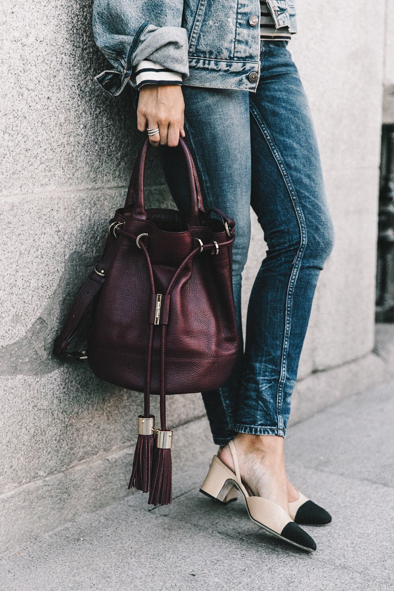 Double_Denim-Levis_Vintage-Skinny_Jeans-Striped_Top-See_By_Chloe_Bag-Chanel_Shoes-Outfit-Collage_Vintage-Street_Style-10