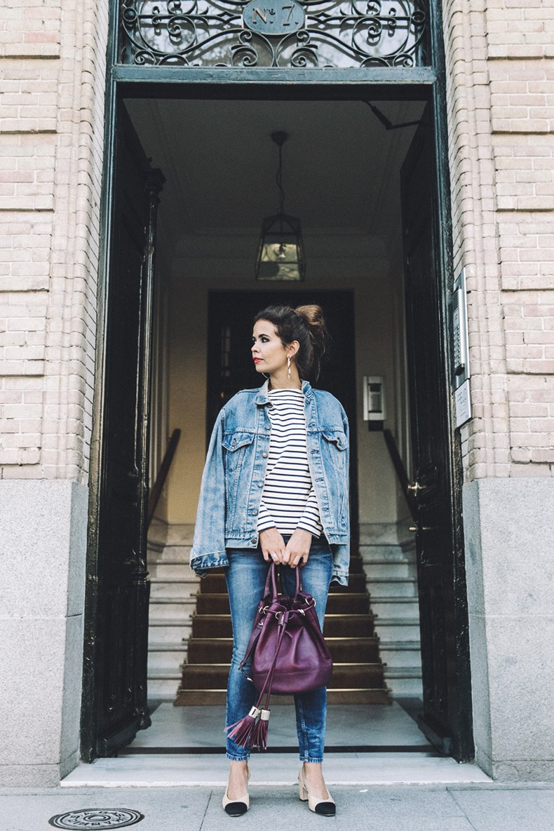 Double_Denim-Levis_Vintage-Skinny_Jeans-Striped_Top-See_By_Chloe_Bag-Chanel_Shoes-Outfit-Collage_Vintage-Street_Style-16