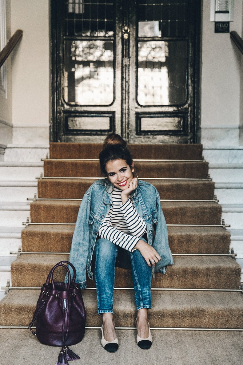 Double_Denim-Levis_Vintage-Skinny_Jeans-Striped_Top-See_By_Chloe_Bag-Chanel_Shoes-Outfit-Collage_Vintage-Street_Style-22
