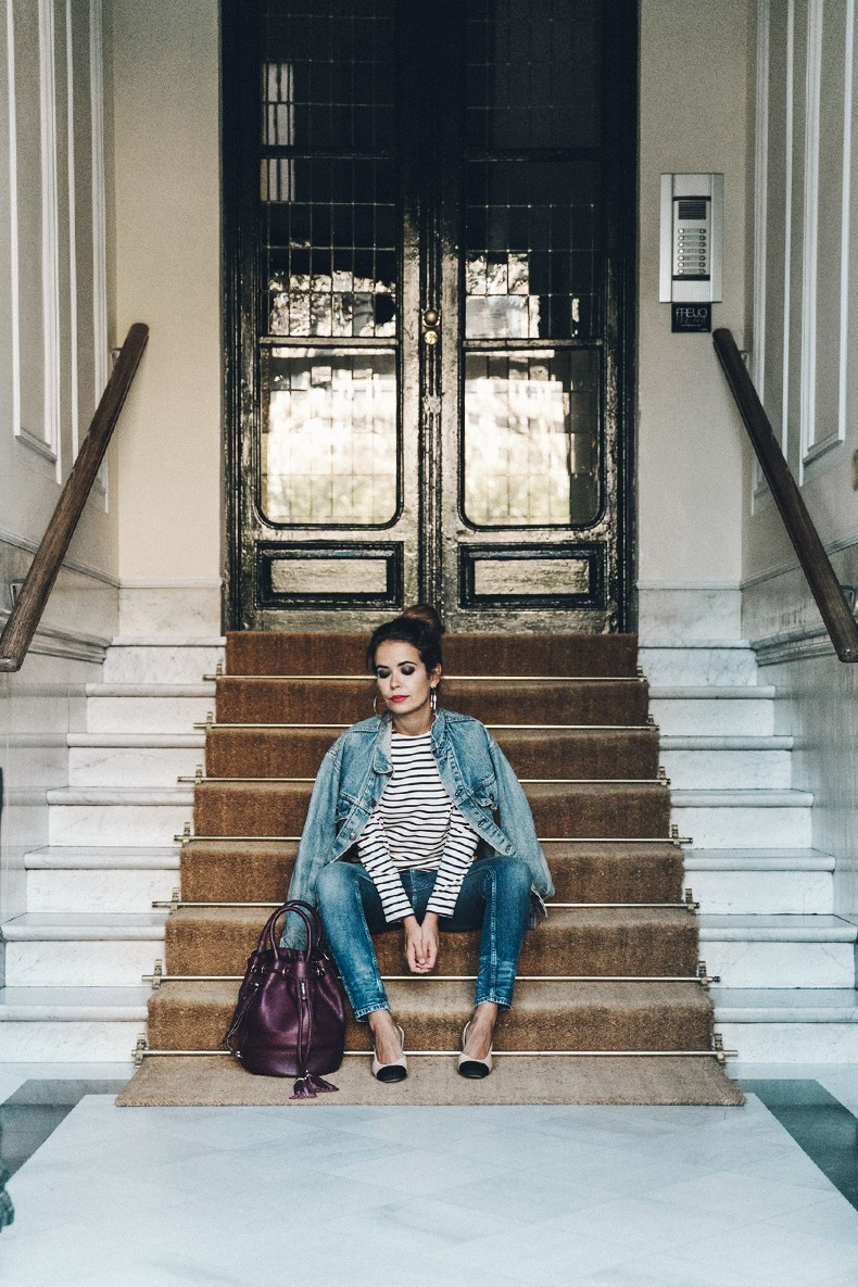 Double_Denim-Levis_Vintage-Skinny_Jeans-Striped_Top-See_By_Chloe_Bag-Chanel_Shoes-Outfit-Collage_Vintage-Street_Style-26