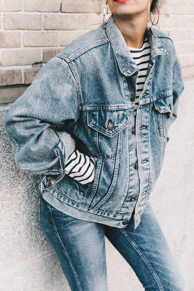Double_Denim-Levis_Vintage-Skinny_Jeans-Striped_Top-See_By_Chloe_Bag-Chanel_Shoes-Outfit-Collage_Vintage-Street_Style-8