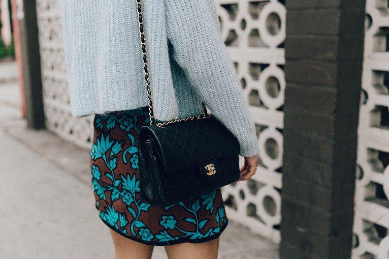 Floral_Skirt-Blue_Knit-Light_Blue-Chanel_Shoes-Chanel_Bag-Outfit-LA-49