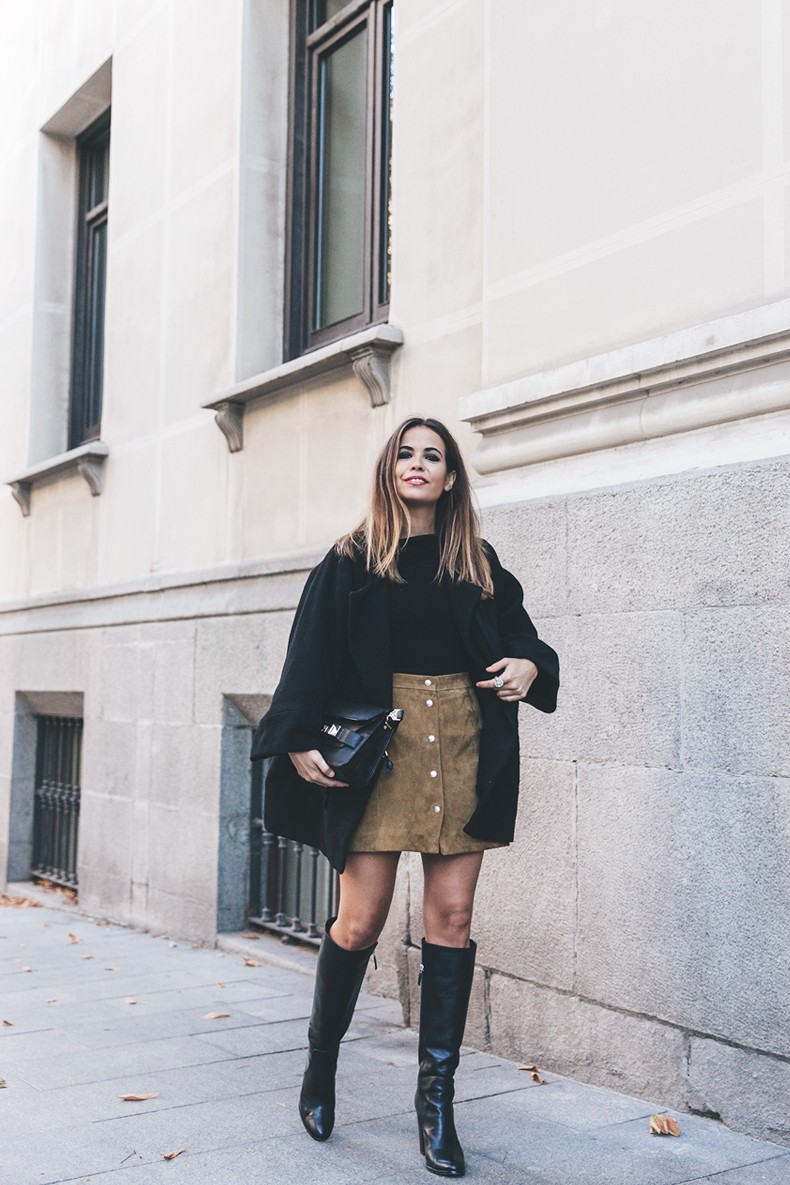High_Boots-Suede_Skirt-Iro_Paris-Black_Jacket-Off_The_Shoulders_Sweater-Outfit-Street_Style-17