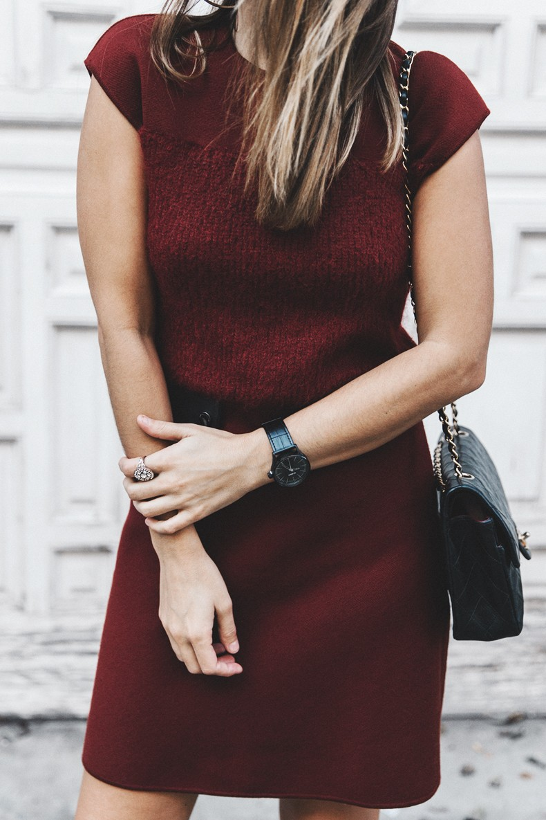 Longchamp-Red_Dress-Booties-Collage_Vintage-Outfit-Street_Style-14