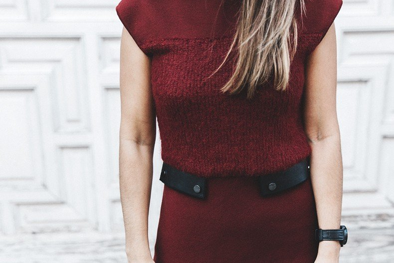 Longchamp-Red_Dress-Booties-Collage_Vintage-Outfit-Street_Style-24