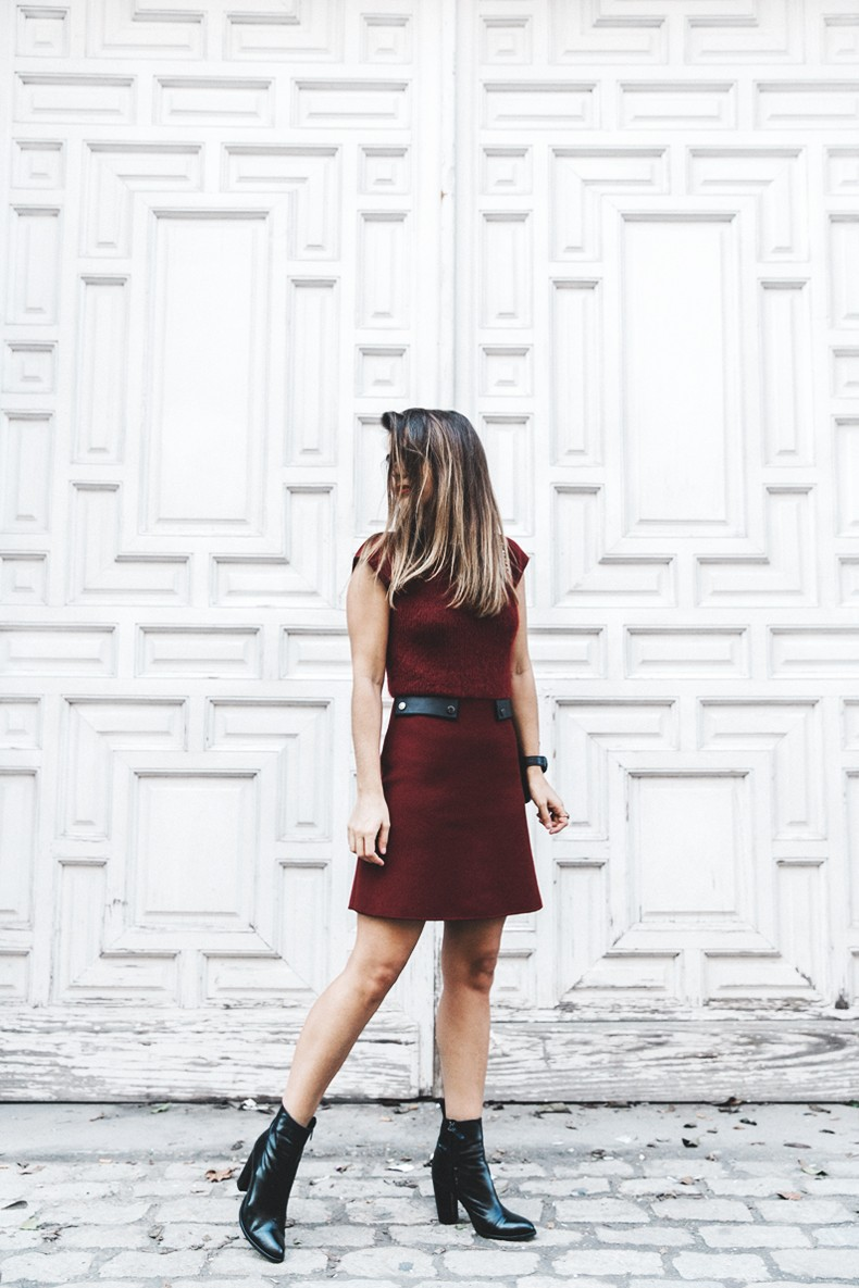 Longchamp-Red_Dress-Booties-Collage_Vintage-Outfit-Street_Style-3