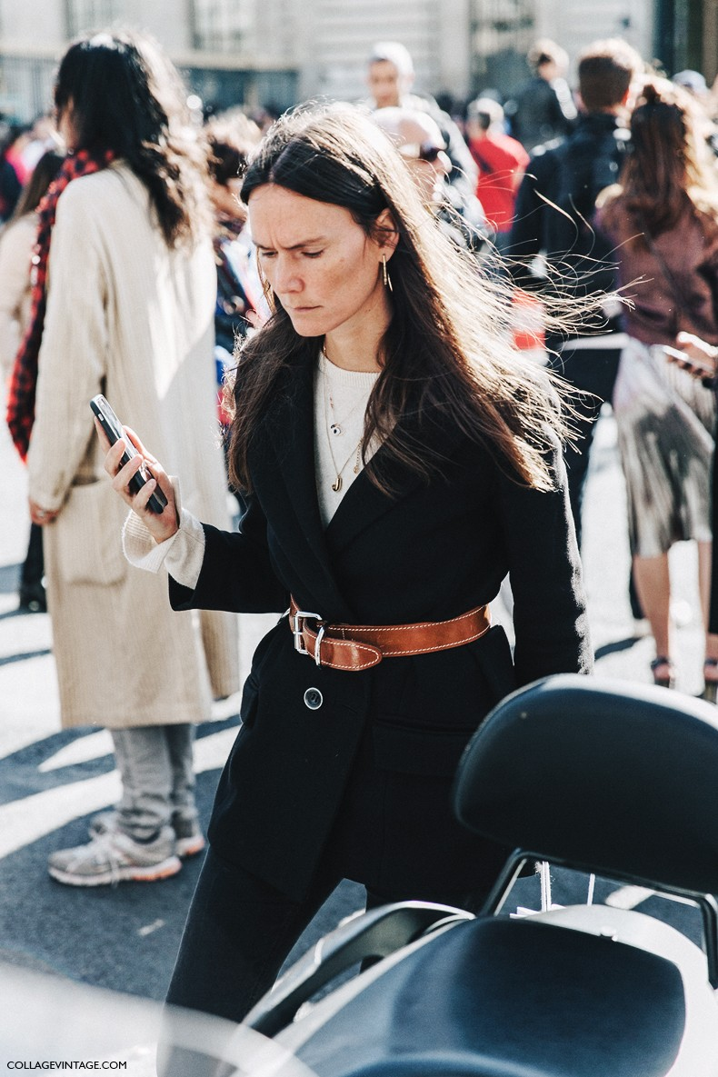 PFW-Paris_Fashion_Week_Spring_Summer_2016-Dior-Street_Style-Belted_Jacket-