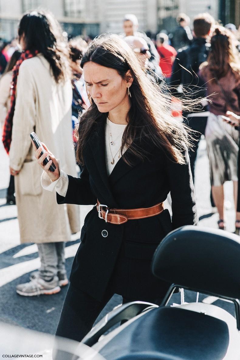 PFW-Paris_Fashion_Week_Spring_Summer_2016-Dior-Street_Style-Belted_Jacket-