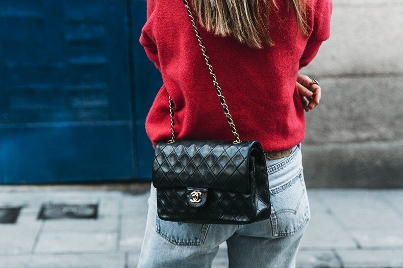 Pink_Sweater-LEvis_Vintage-Snake_Shoes-Chanel_Bag-Casual_Look-Outfit-Street_Style-Collage_Vintage-26