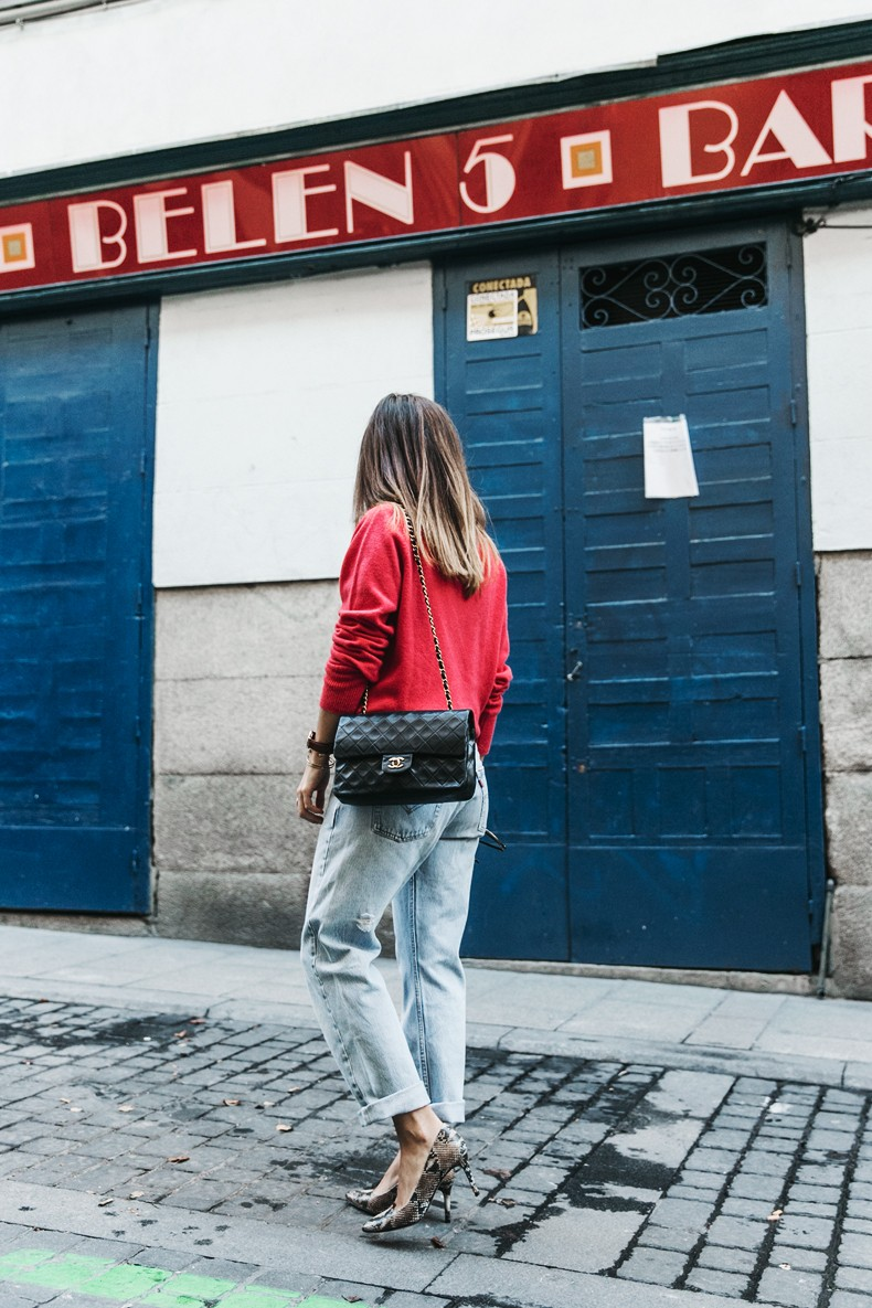 Pink_Sweater-LEvis_Vintage-Snake_Shoes-Chanel_Bag-Casual_Look-Outfit-Street_Style-Collage_Vintage-8