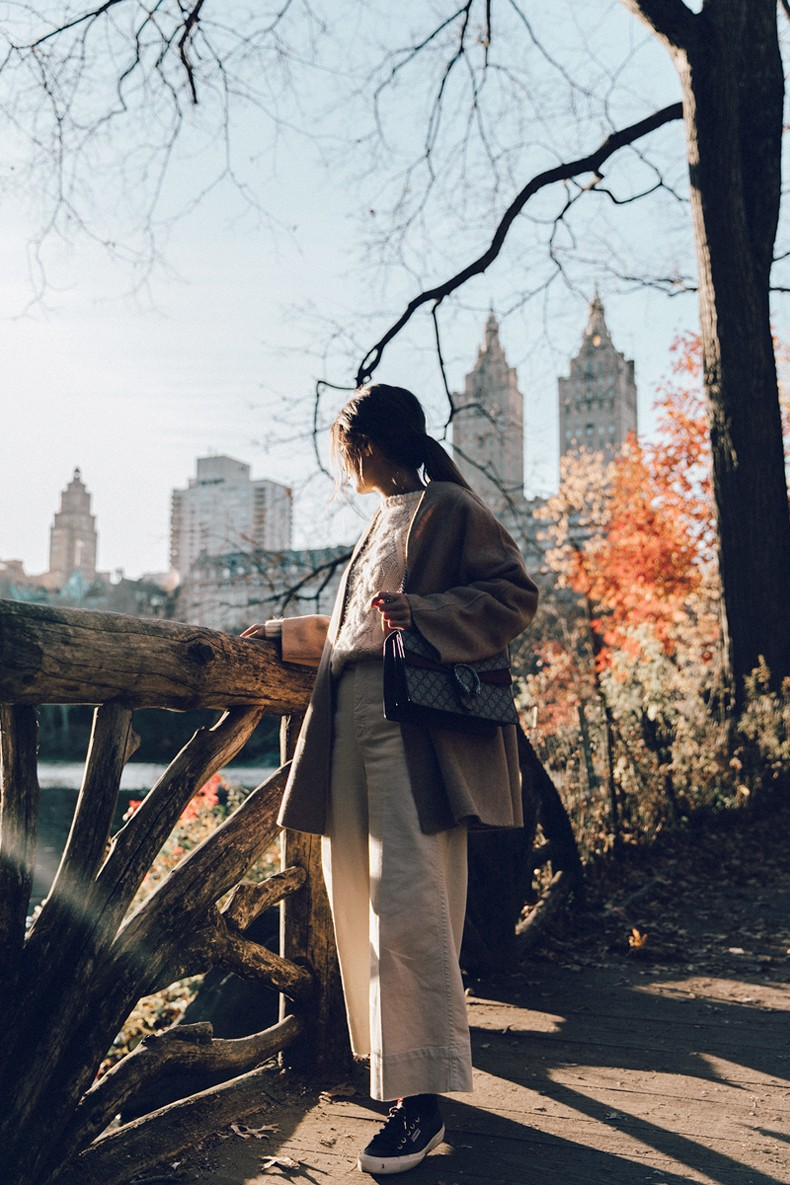 Central_Park-Beige_Coact-Gucci_Bag-Superga_Sneakers-Culottes-Nude_Outfit-Collage_Vintage-Street_Style-4