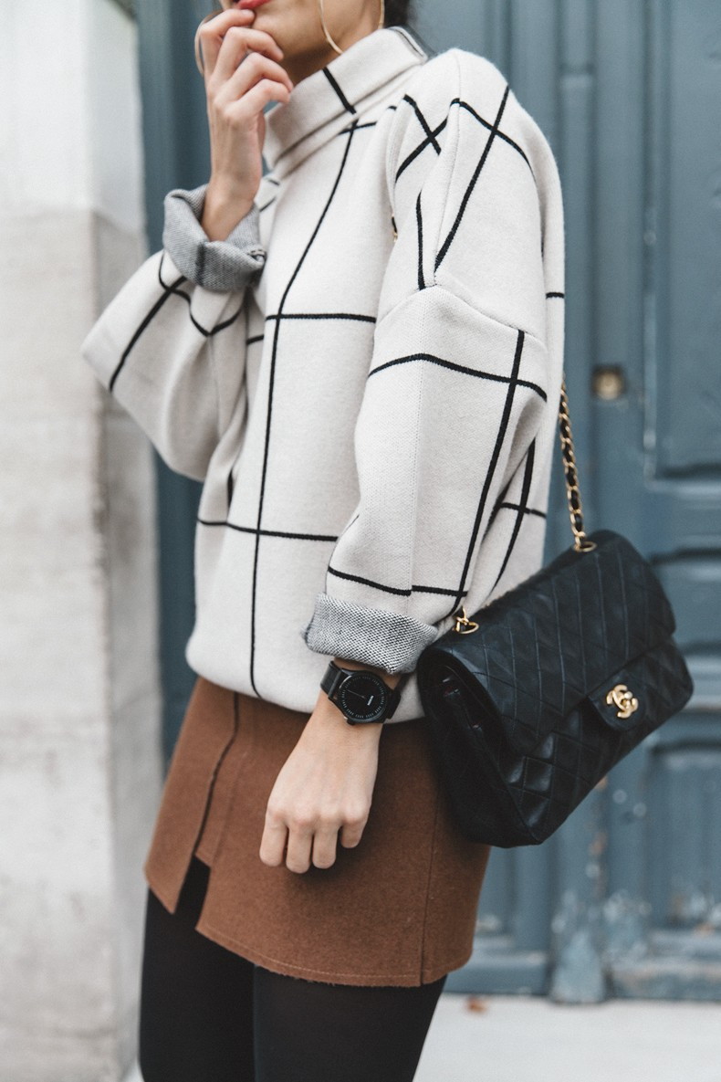 Checked_Sweater-Camel_Skirt-Chained_Booties-Chicwish-Collage_Vintage-Street_Style-Outfit-Mini_Skirt-Turtle_Neck-Hoop_Earrings-34