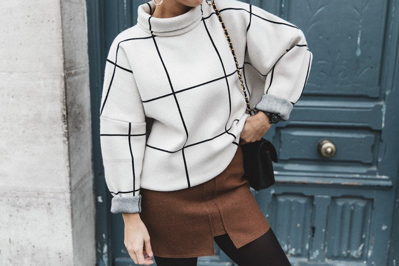 Checked_Sweater-Camel_Skirt-Chained_Booties-Chicwish-Collage_Vintage-Street_Style-Outfit-Mini_Skirt-Turtle_Neck-Hoop_Earrings-68