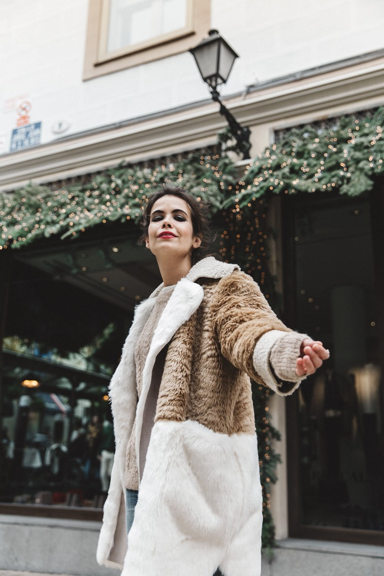 Patchwork_Coat-Faux_Fur_Coat-Asos-Mother_Jeans-Denim-Cable_Knit_Sweater-Snake_Effect_Booties-Topknot-Collage_Vintage-Street_Style-Outfit-12
