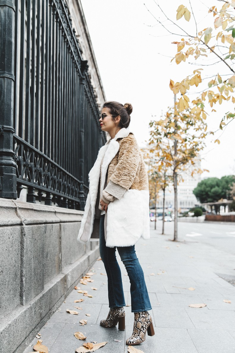 Patchwork_Coat-Faux_Fur_Coat-Asos-Mother_Jeans-Denim-Cable_Knit_Sweater-Snake_Effect_Booties-Topknot-Collage_Vintage-Street_Style-Outfit-16