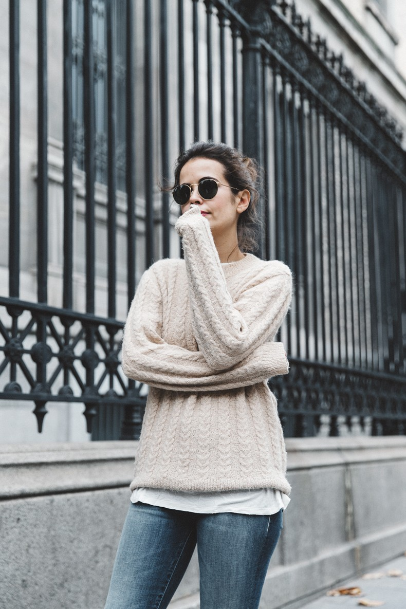 Patchwork_Coat-Faux_Fur_Coat-Asos-Mother_Jeans-Denim-Cable_Knit_Sweater-Snake_Effect_Booties-Topknot-Collage_Vintage-Street_Style-Outfit-36