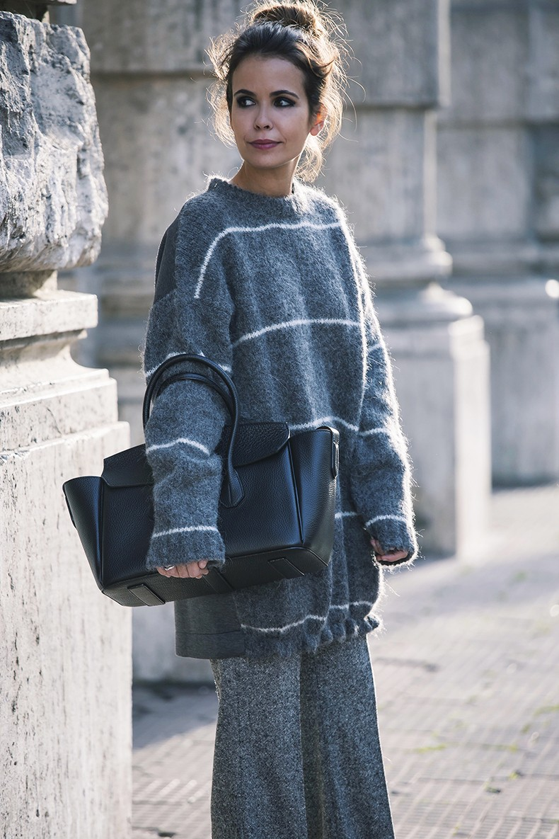 Stella_McCartney-N21_Sweater-Bally_Bag-Outfit-BrunaRosso-Cuneo-Topknot-Grey_Look-Collage_Vintage-Street_Style-2