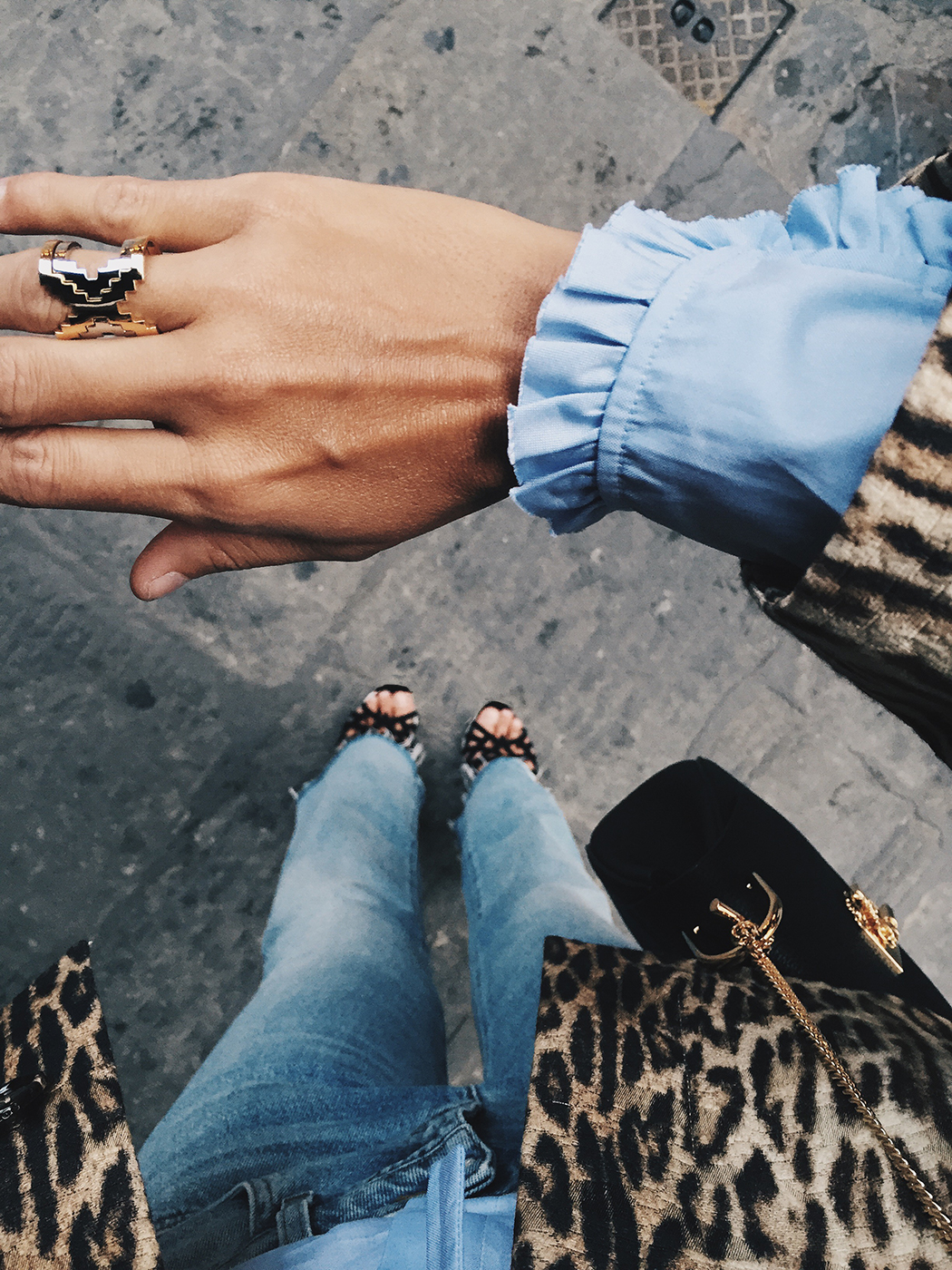 Firenze4Ever-Luisa_VIa_Roma-Chloe_Leopard_Jacket-Light_Blue_Blouse-Gucci_Jeans-_Look-Drew_Bag-Outfit-Florence-Street_Style-15