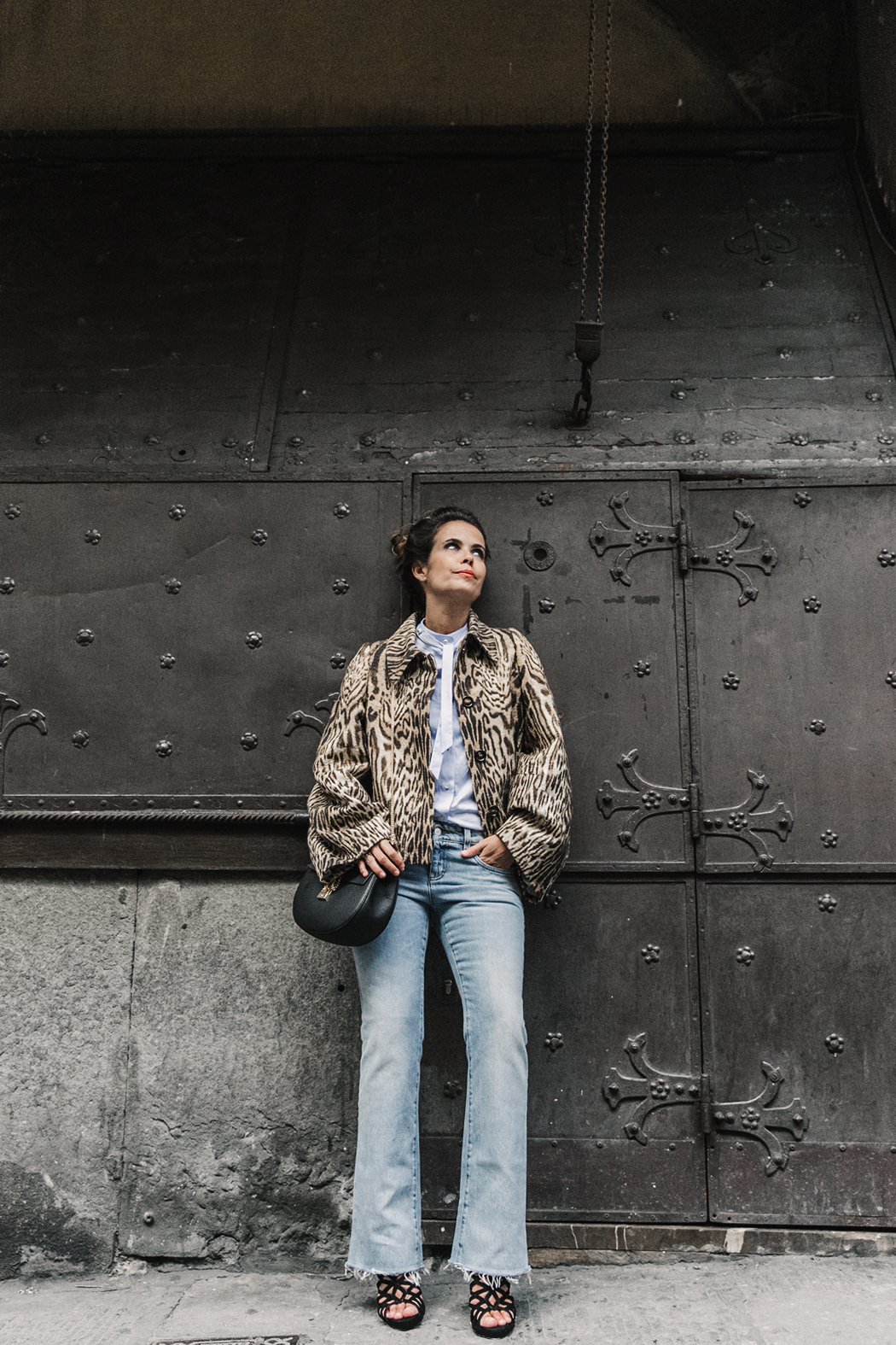 Firenze4Ever-Luisa_VIa_Roma-Chloe_Leopard_Jacket-Light_Blue_Blouse-Gucci_Jeans-_Look-Drew_Bag-Outfit-Florence-Street_Style-4