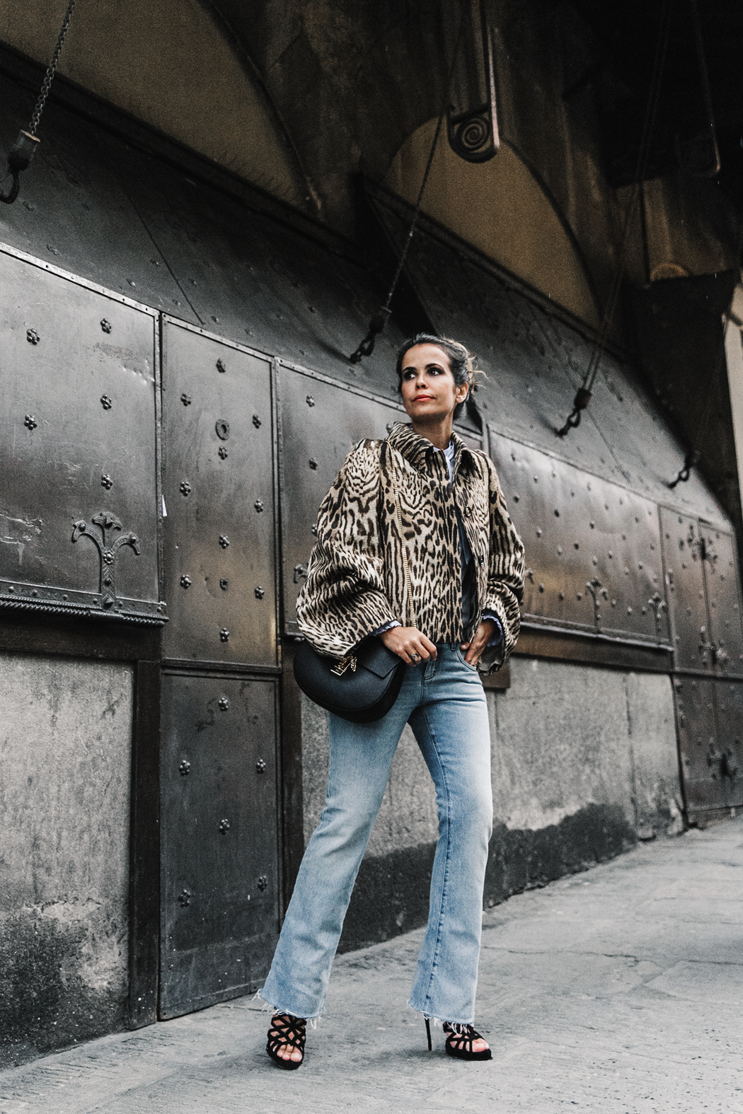 Firenze4Ever-Luisa_VIa_Roma-Chloe_Leopard_Jacket-Light_Blue_Blouse-Gucci_Jeans-_Look-Drew_Bag-Outfit-Florence-Street_Style-9