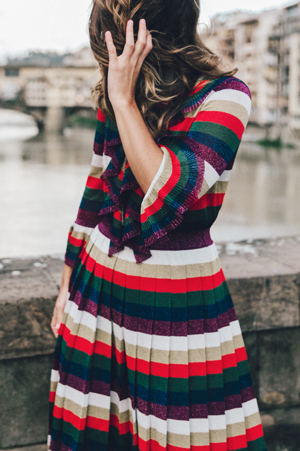 Firenze4Ever-Luisa_VIa_Roma-Gucci_Striped_Dress-Gucci_Gold_Sandals-Outfit-Florence-Street_Style-11