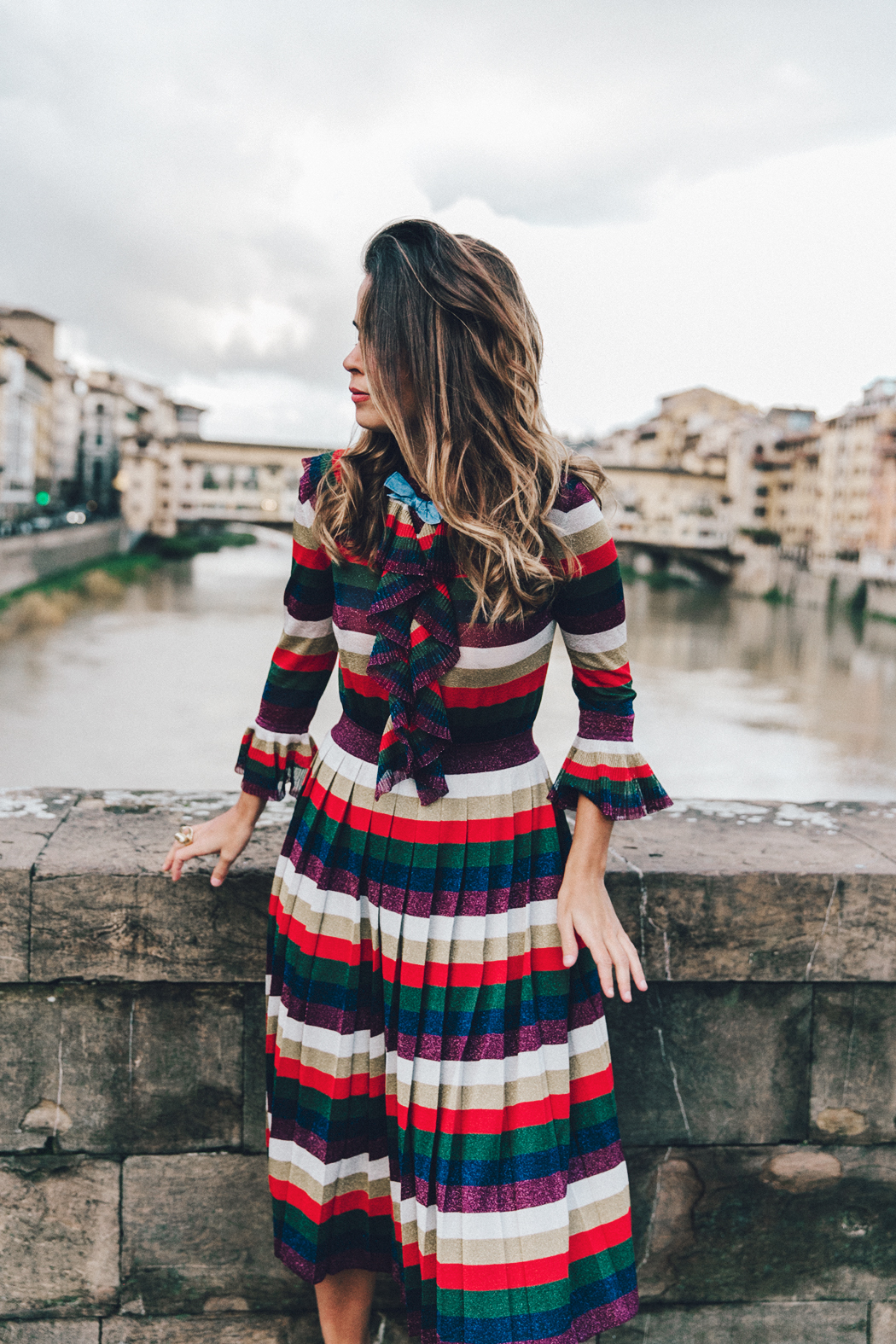Firenze4Ever-Luisa_VIa_Roma-Gucci_Striped_Dress-Gucci_Gold_Sandals-Outfit-Florence-Street_Style-13
