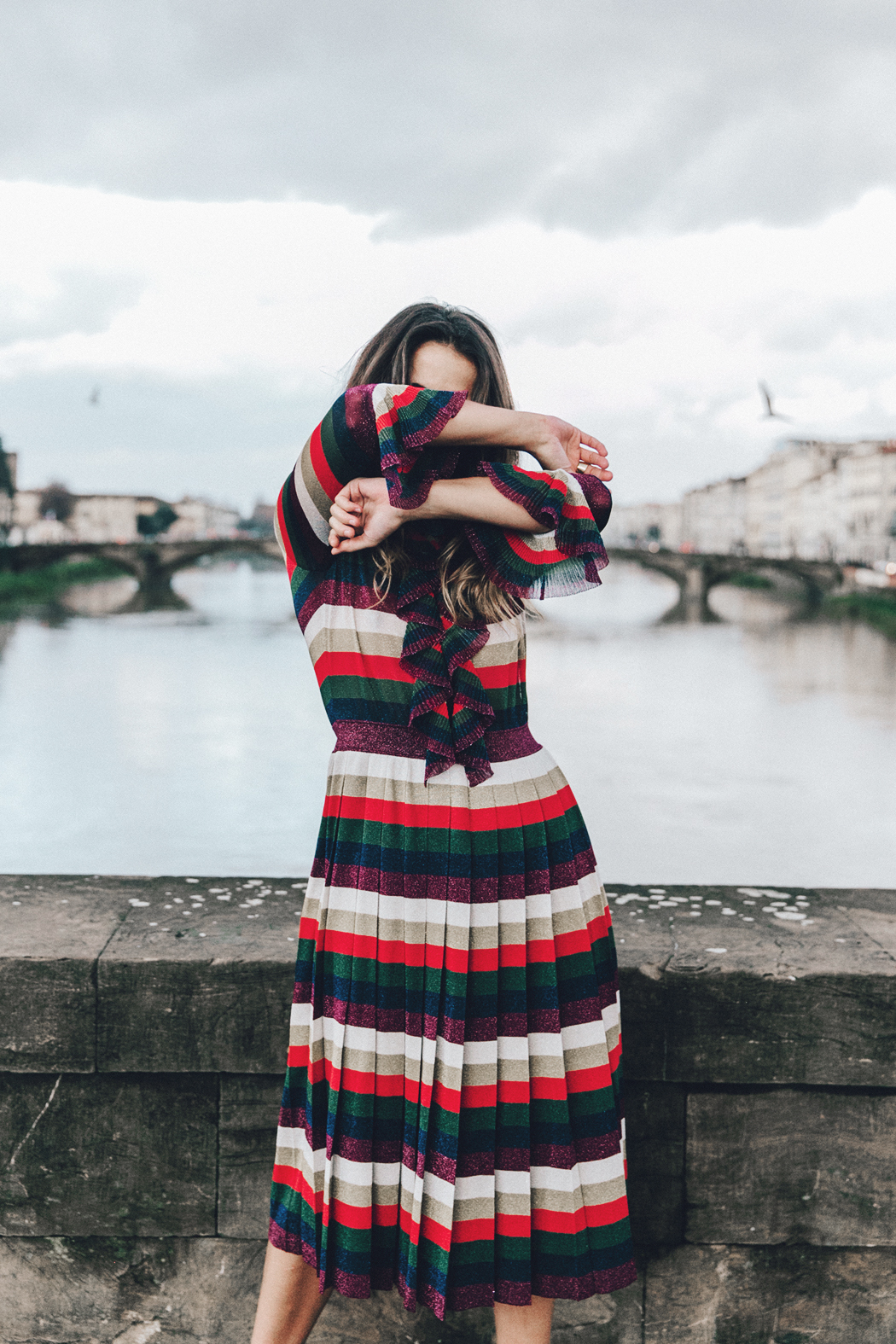 Firenze4Ever-Luisa_VIa_Roma-Gucci_Striped_Dress-Gucci_Gold_Sandals-Outfit-Florence-Street_Style-43