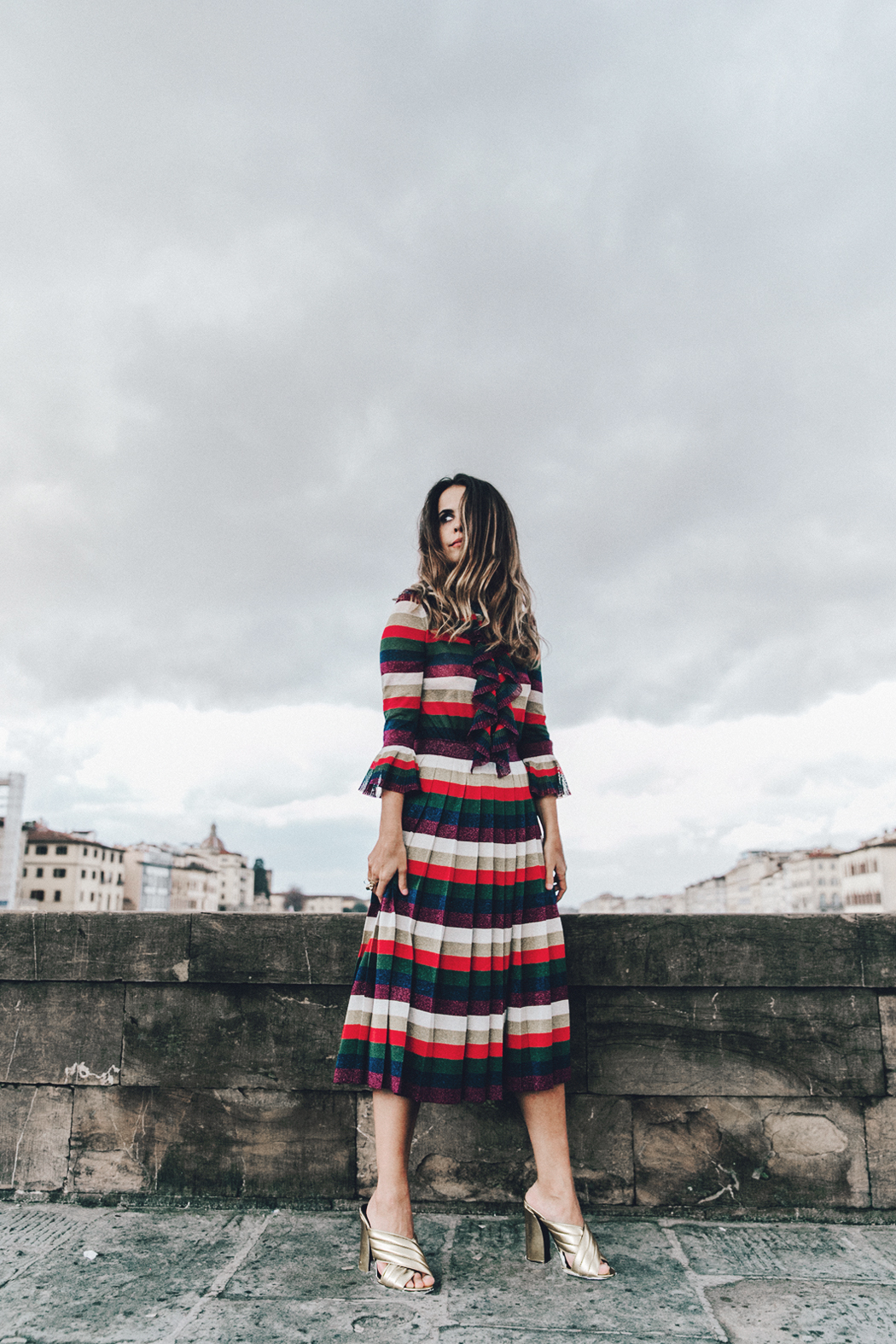 Firenze4Ever-Luisa_VIa_Roma-Gucci_Striped_Dress-Gucci_Gold_Sandals-Outfit-Florence-Street_Style-52