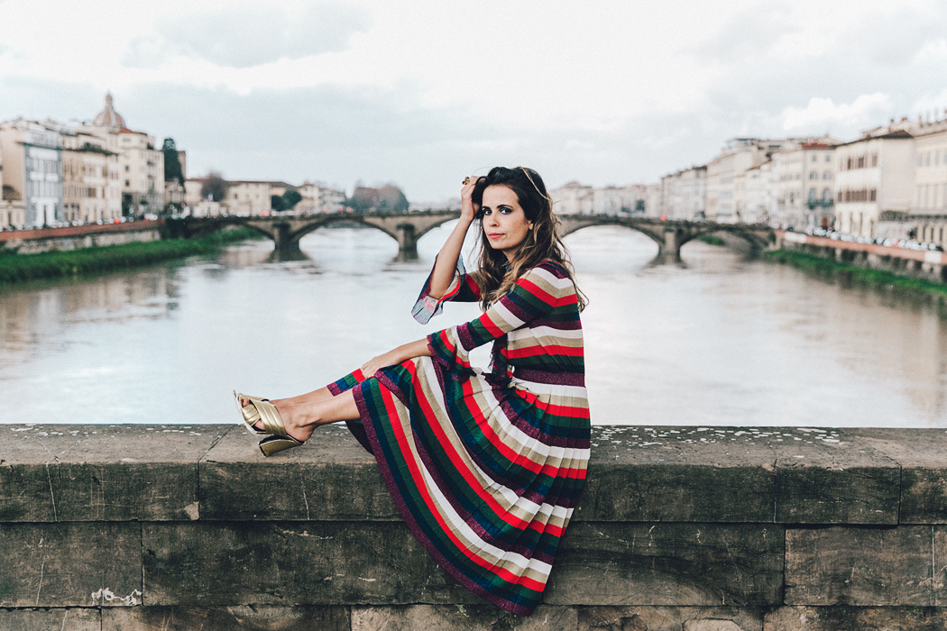 Firenze4Ever-Luisa_VIa_Roma-Gucci_Striped_Dress-Gucci_Gold_Sandals-Outfit-Florence-Street_Style-68