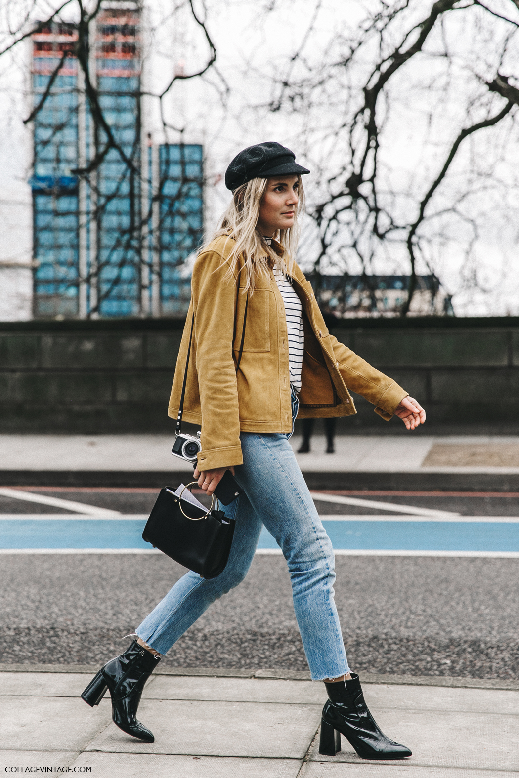 LFW-London_Fashion_Week_Fall_16-Street_Style-Collage_Vintage-Lucy_Williams-Topshop-Yellow_Suede_Jacket-5