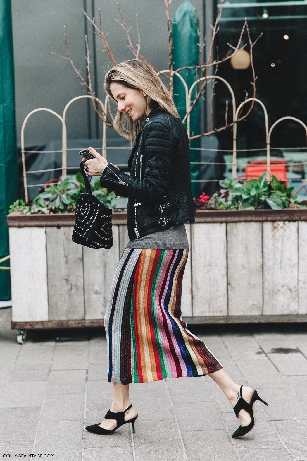 LFW-London_Fashion_Week_Fall_16-Street_Style-Collage_Vintage-Marina_Larroude-Stripped_Skirt-
