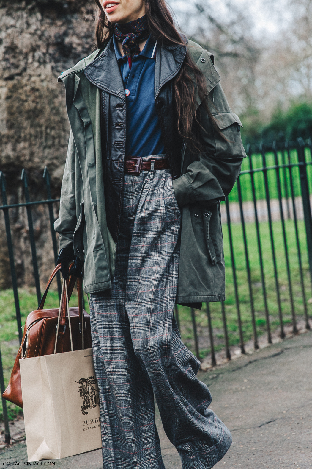 LFW-London_Fashion_Week_Fall_16-Street_Style-Collage_Vintage-Model-Burberry-Tweed_Trousers-Parka-4