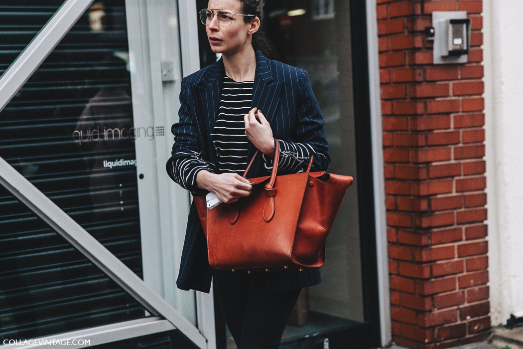 LFW-London_Fashion_Week_Fall_16-Street_Style-Collage_Vintage-Pinstripe_Blazer-Celine_Bag-Adidas_Sneakers-Irina-Lakicevic-6