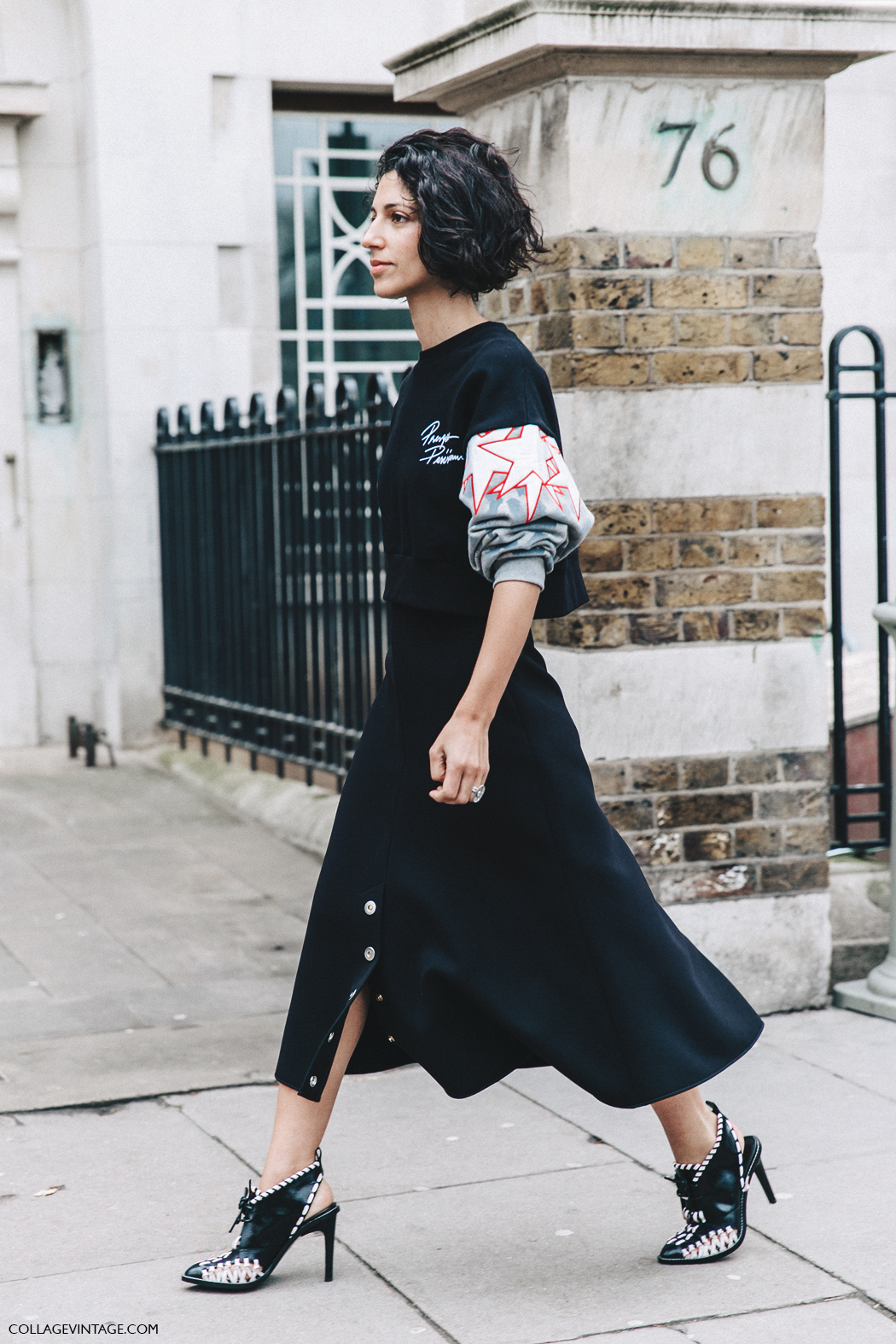 LFW-London_Fashion_Week_Fall_16-Street_Style-Collage_Vintage-Yasmin_Sewell-Black-Sweatshirt.Midi_Skirt-1