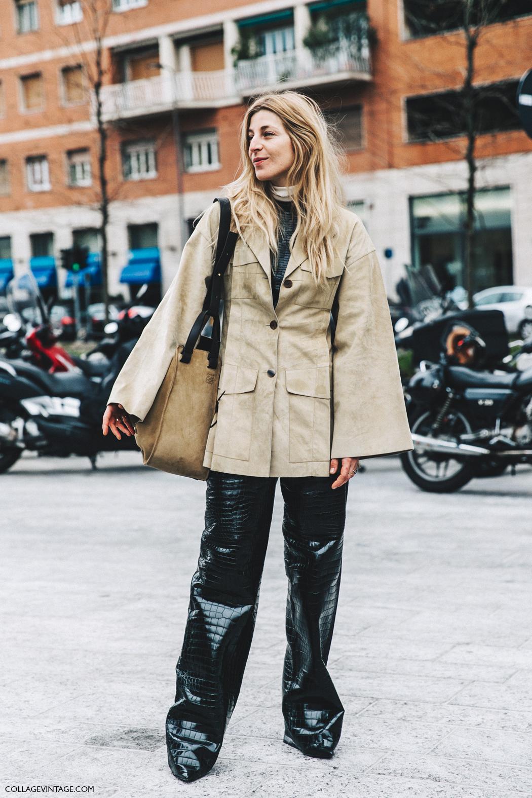 Milan_Fashion_Week_Fall_16-MFW-Street_Style-Collage_Vintage-Ada_kokosar-Leather_trousers-2