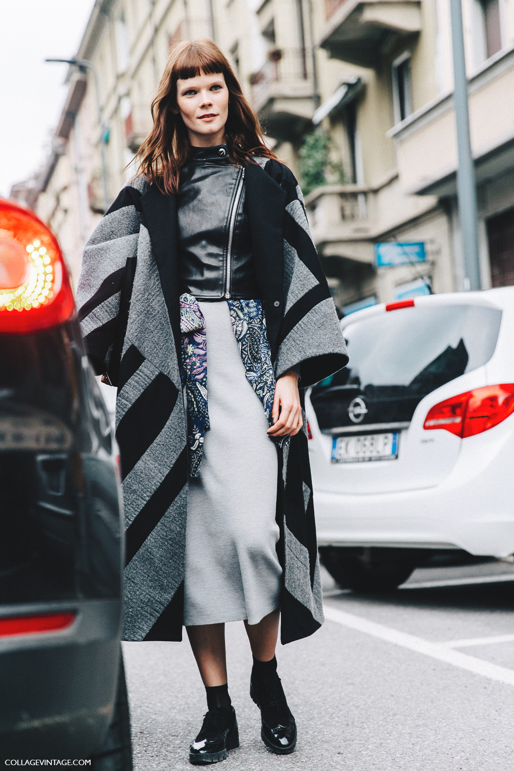 Milan_Fashion_Week_Fall_16-MFW-Street_Style-Collage_Vintage-Model-Midi_Skirt-Layers-Biker_Jacket-