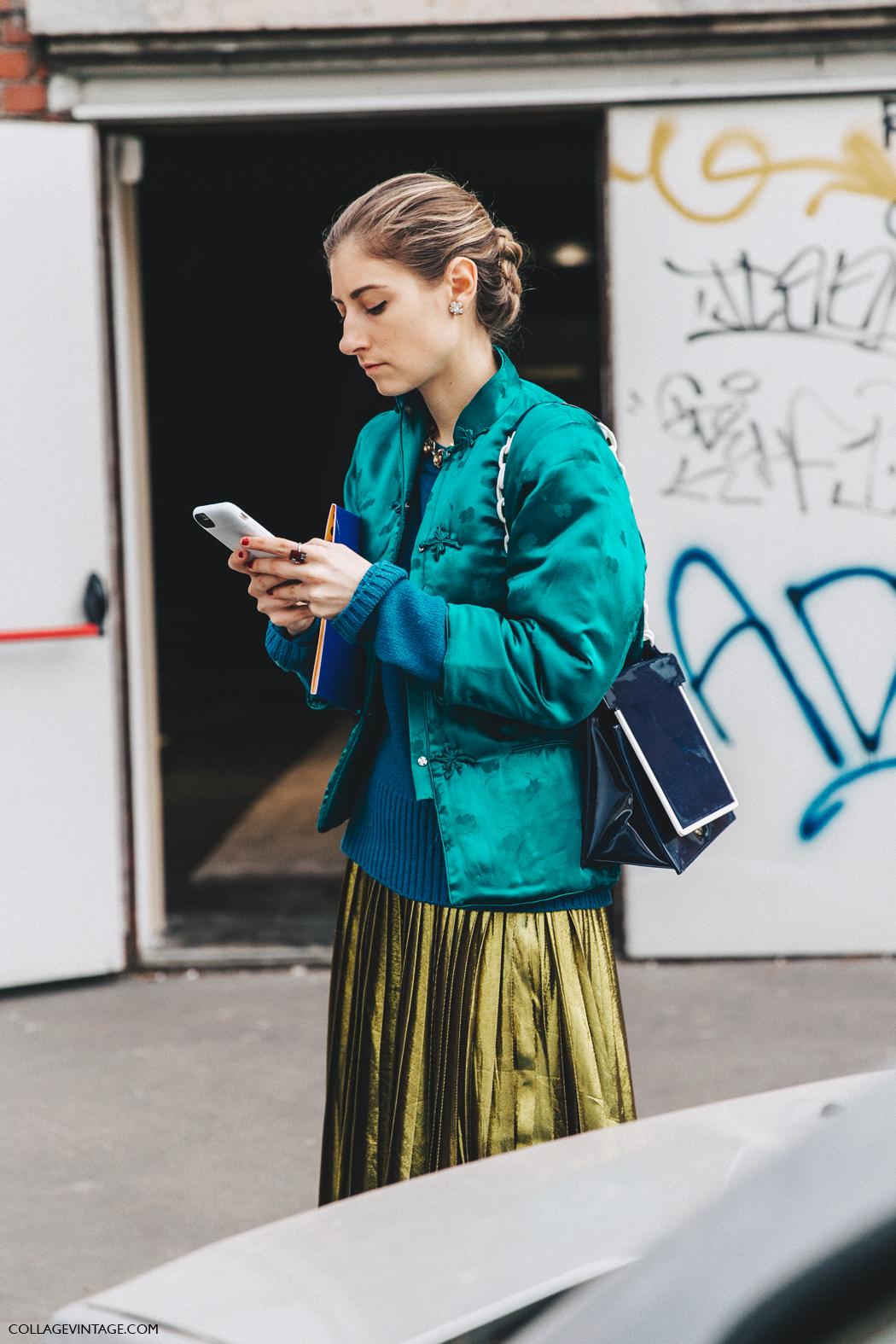 Milan_Fashion_Week_Fall_16-MFW-Street_Style-Collage_Vintage-Vintage_Jacket-Gucci_Skirt-Prada_Boots-