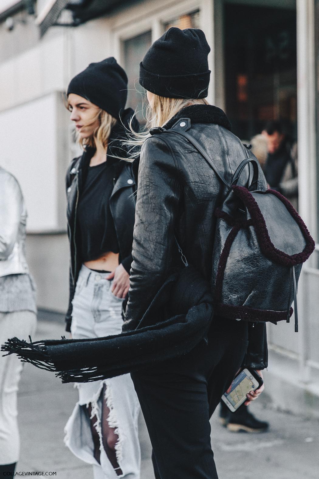 NYFW-New_York_Fashion_Week-Fall_Winter-17-Street_Style-Backpack-Black_Beanies-