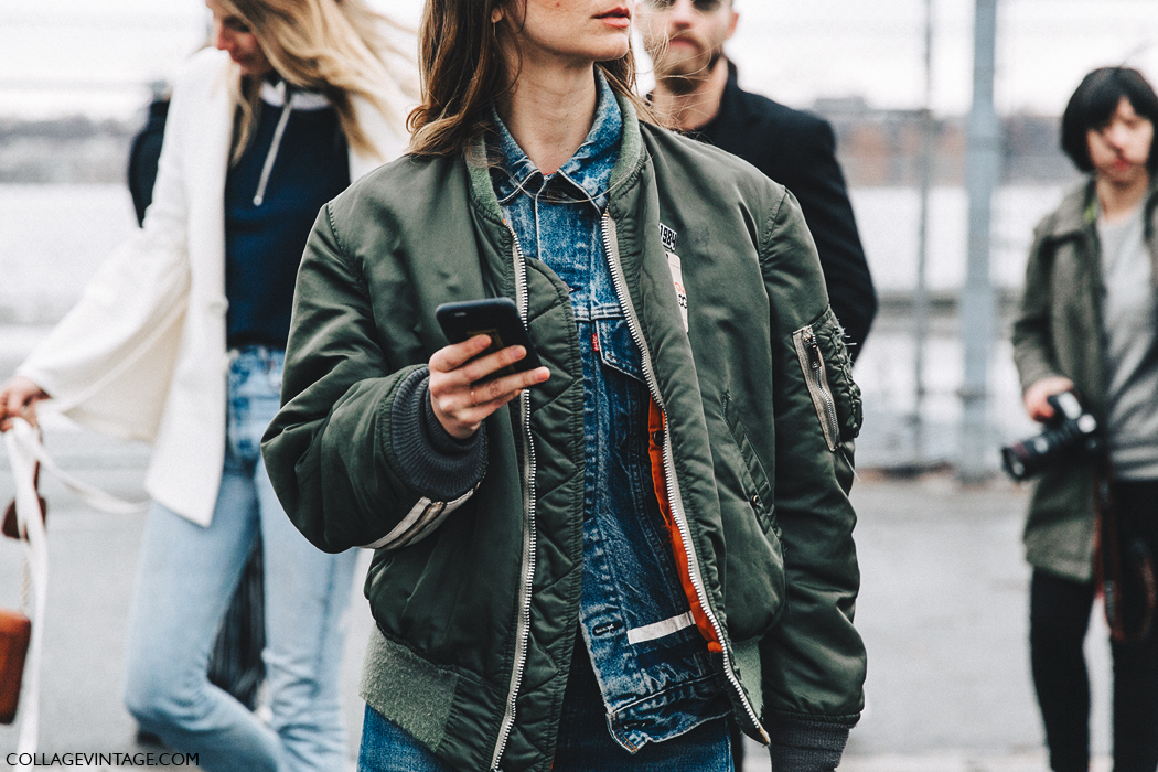 NYFW-New_York_Fashion_Week-Fall_Winter-17-Street_Style-Layers-Bomber_Jacket-Denim_Jacket-Brie_Welch-