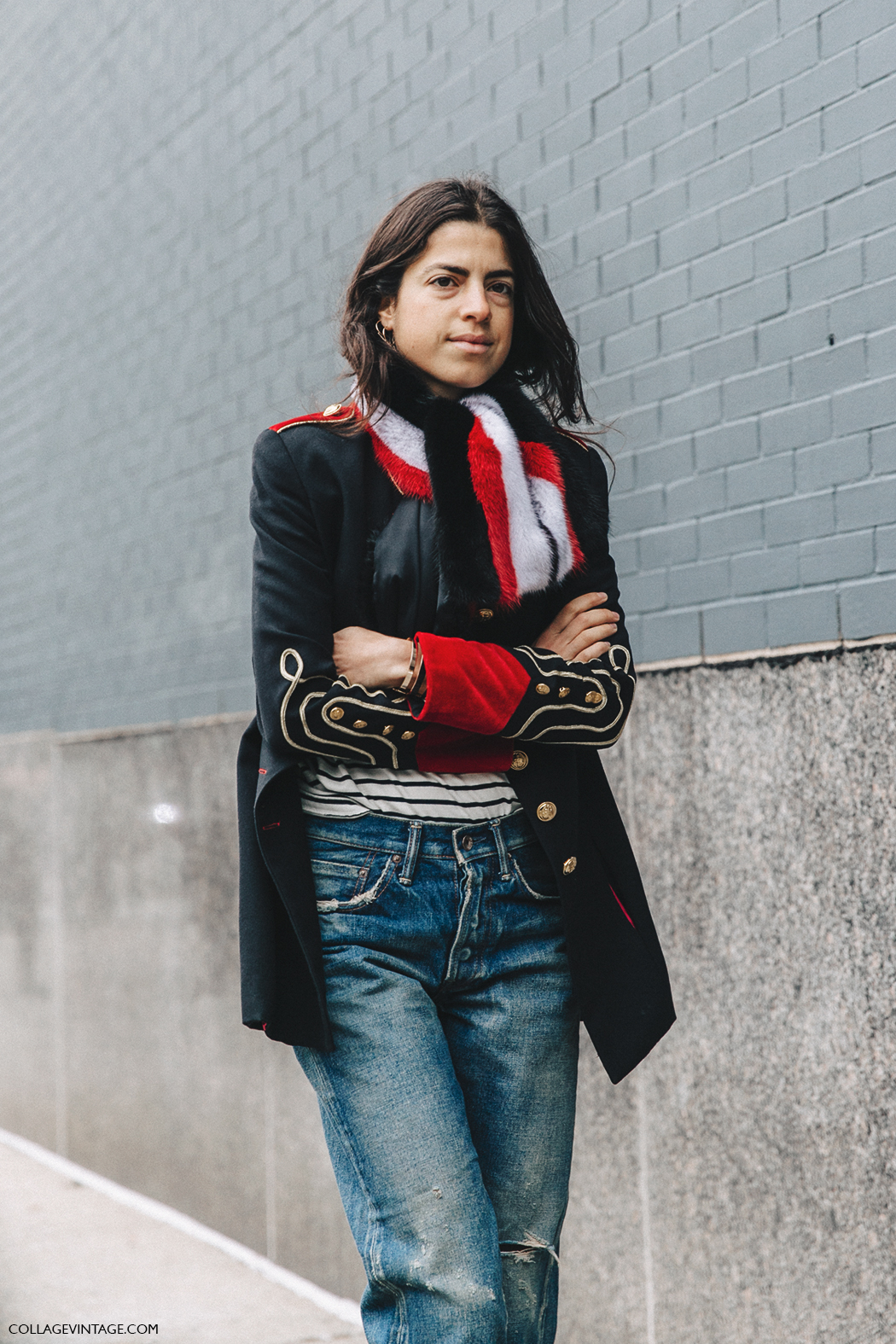 NYFW-New_York_Fashion_Week-Fall_Winter-17-Street_Style-Leandra_Medine-Man_Repeller-Jeans-Military_Jacket-5