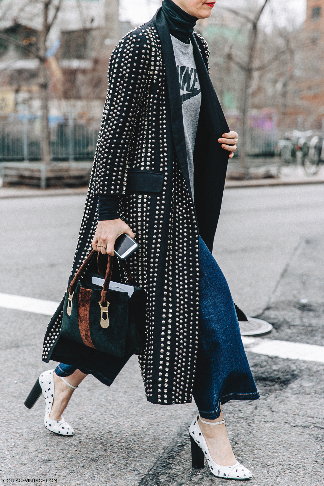 Street style nyfw v collage vintage Street style ny fashion week fall 2015