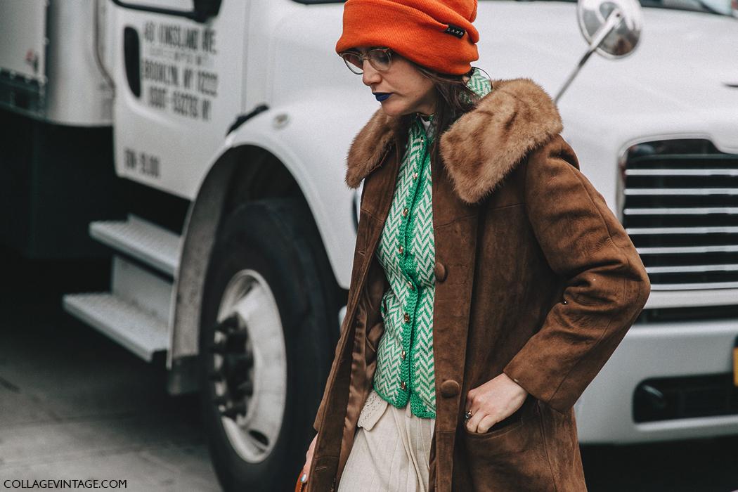 NYFW-New_York_Fashion_Week-Fall_Winter-17-Street_Style-Vintage_Coat-Orange_Beanie-