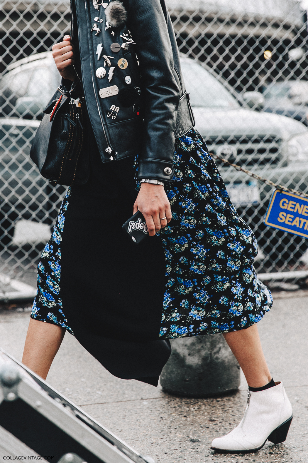 NYFW-New_York_Fashion_Week-Fall_Winter-17-Street_Style-White_Boots-Floral_Dress-Leather_Jacket-Coach-1